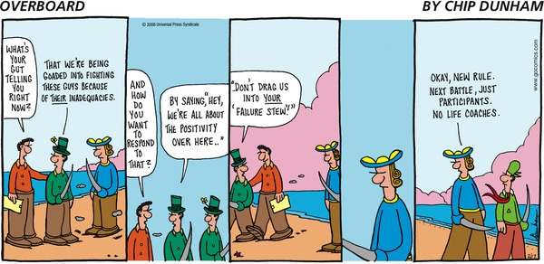 life coaches are everywhere overboard cartoon
