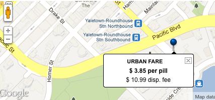 urban fare pharmacy vancouver bc pharmacy compass map
