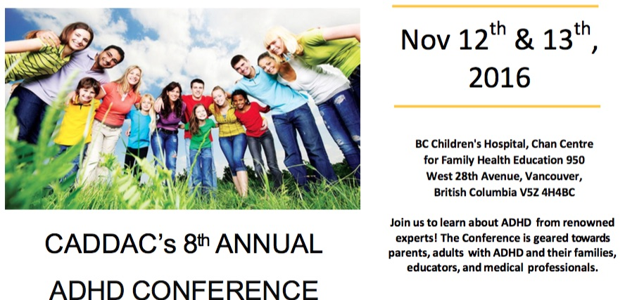 CADDAC 2016 ADHD Conference In Vancouver BC