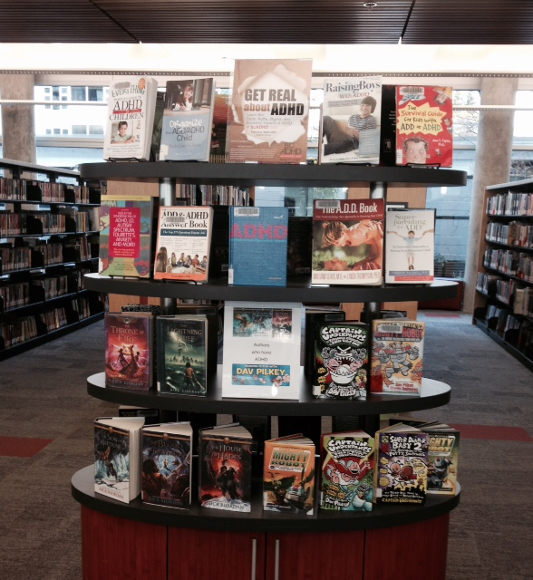 North Vancouver City Library @northvancitylib ADHD Book Display. Thanks Patricia